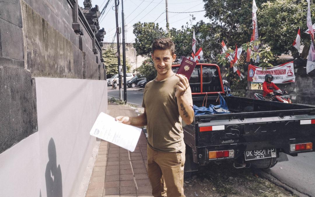 Indonésie, Visa 2 mois, extension visa